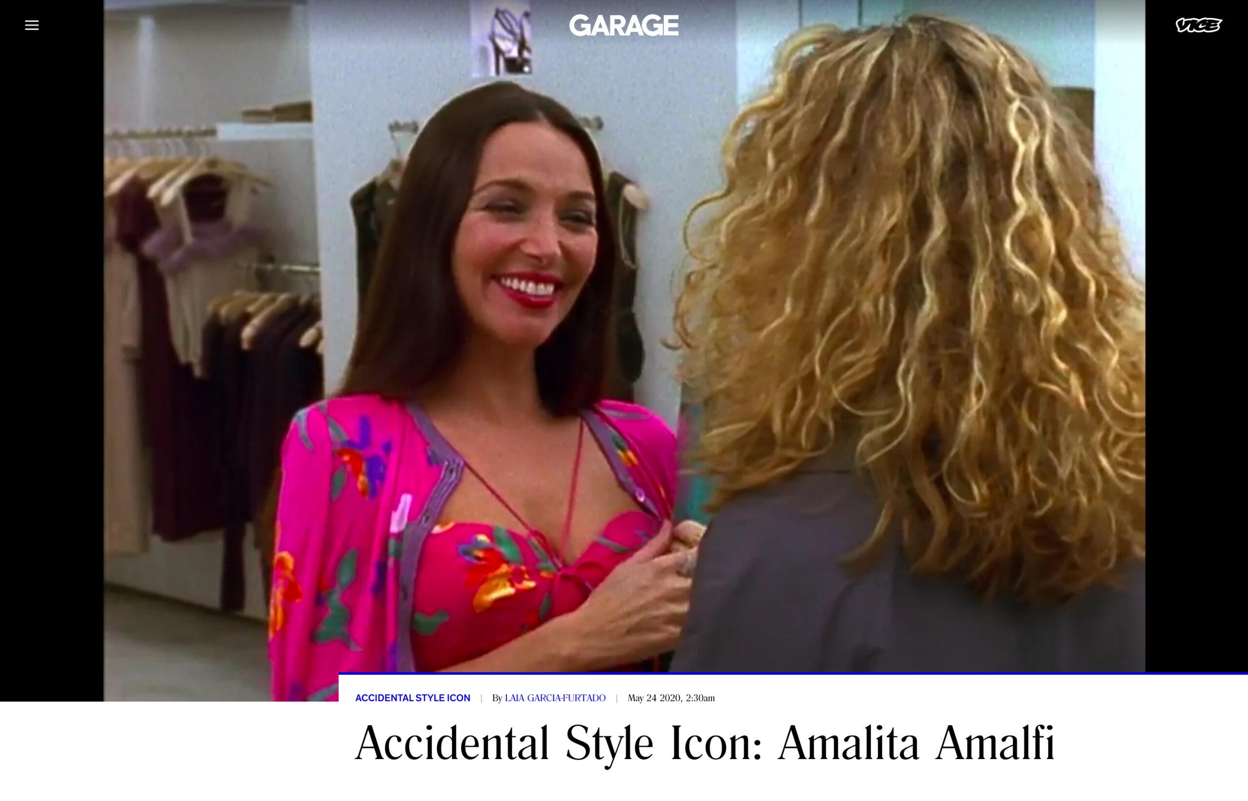 Carole Davis - Garage Magazine VICE Accidental Style Icon: Amalita Amalfi